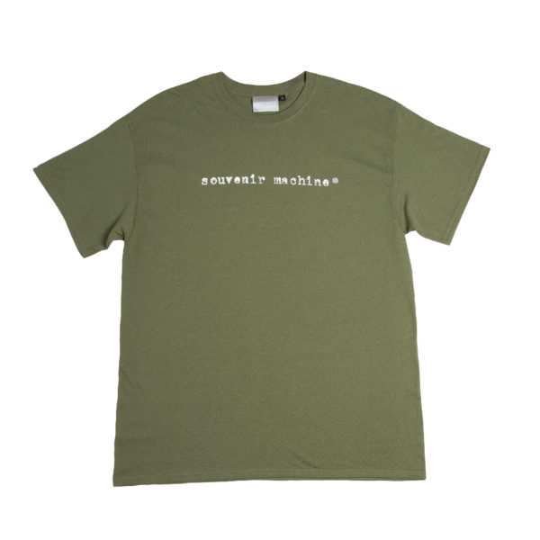 souvenir machine long typewriter military green