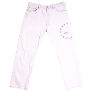 souvenir machine jeans white levis 501 tooth stamps
